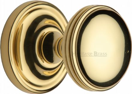 M Marcus Heritage Brass WHI6429-PB Whitehall Mortice Knob On Rose Polished Brass